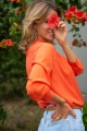 Le Gang - Vanessa Bruno - Top Loucia Corail - photo produit porté de face