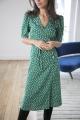 Le Gang - Rouje - Robe Gabin Vert - photo produit porté de dos