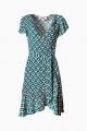 Le Gang - DIANE VON FURSTENBERG - Robe Avaya Bleu - photo produit porté de dos