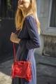 Le Gang - Maje - Sac Mini M Rouge - photo produit porté de dos