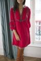 Le Gang - Ba&sh - Robe Cale Rouge - photo produit porté de dos
