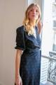 Le Gang - Rouje - Robe Rosalie Cerise - photo produit porté de face
