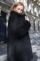 Le Gang - Twinset - Manteau Fluffy - photo produit porté de face
