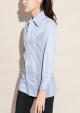 Le Gang - Céline - Chemise rayée - photo produit porté de face