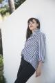 Le Gang - Céline - Chemise coton rayures  - photo produit porté de face
