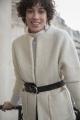 Le Gang - Ba&sh - Manteau  Clif Ecru - photo produit porté de dos