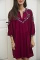 Le Gang - Ba&sh - Robe Caitlin  - photo produit porté de face