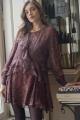 Le Gang - IRO - Robe Honess Bordeaux - photo produit porté de face