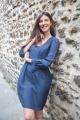 Le Gang - Tara Jarmon - Robe Maisa Indigo - photo produit porté de dos