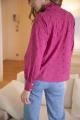 Le Gang - Soeur - Chemise Dorisse rose - photo produit porté de profil
