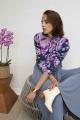 Le Gang - Laurence Bras - Jupe Smith China Bleu - photo produit porté de face