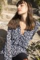 Le Gang - Michael Kors - Blouse Fleurie - photo produit porté de dos