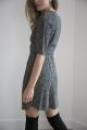 Le Gang - Arket - Robe Floral Wrap Dress Black - photo produit porté de profil