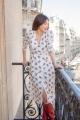 Le Gang - Ba&sh - Robe Fanny Ecru - photo produit porté de profil