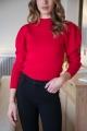 Le Gang - Isabel Marant Etoile  - Pull Kelaya Rouge - photo produit porté de dos