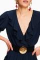 Le Gang - Tara Jarmon - Robe Midi - photo produit porté de dos