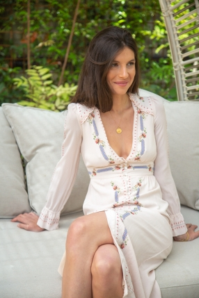 Robe Carlita Florale - VILSHENKO - L'Habibliothèque
