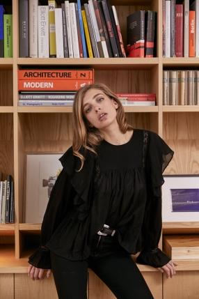 Top Amelia noir - MAGALI PASCAL - L'Habibliothèque
