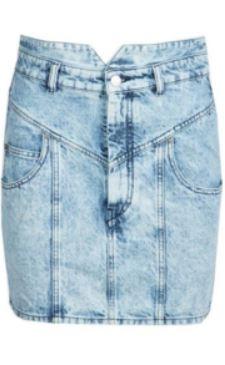 Jupe en jean mouchetée - ISABEL MARANT - Le gang