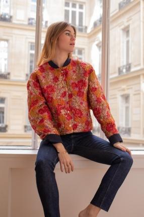 Veste Jacquard Orange - ROSEANNA - L'Habibliothèque