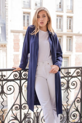 Manteau Trench Robertine Navy - SANDRO - Le gang