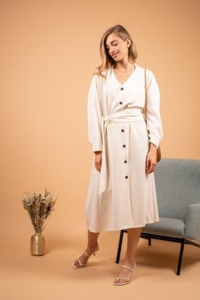 Robe Beige Contraste - THEFRANKIE SHOP - L'Habibliothèque