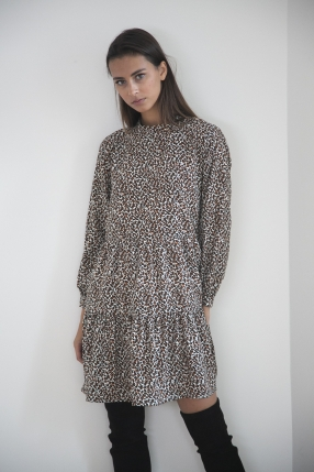 Robe Animal Print Marron - WILD PONY - L'Habibliothèque
