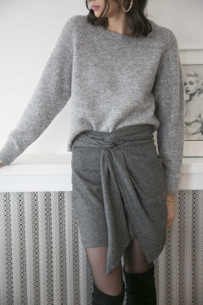 Pull Nor o-n short Grey - SAMSØE SAMSØE - Le gang