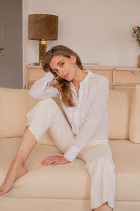 Chemise Vanessa blanche  - VANESSA BRUNO - L'Habibliothèque