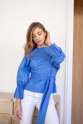 Top Tessa Bubble bleu - KITRI - L'Habibliothèque