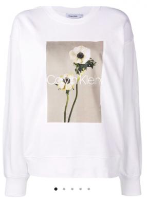 Pull White Flower - CALVIN KLEIN - L'Habibliothèque