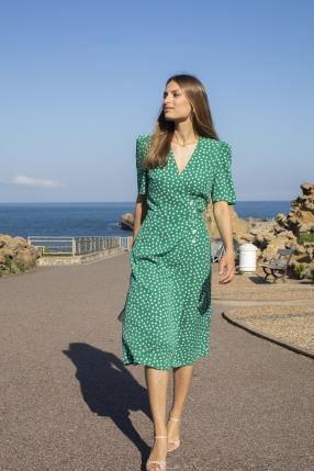 Robe Gabin Vert - ROUJE - L'Habibliothèque