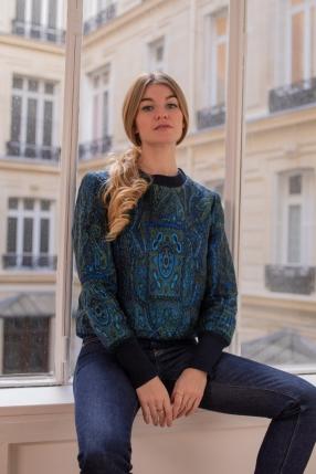 Sweat Jacquard Bleu - MAISON PÈRE - Le gang