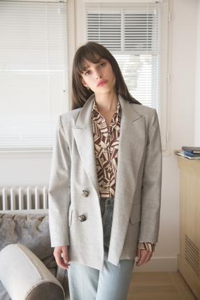 Veste Yvette Grise - CAROLINA RITZLER - L'Habibliothèque