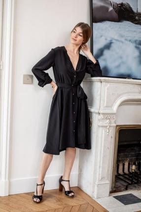 Robe Black Courte - VANESSA BRUNO - L'Habibliothèque