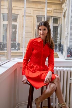 Robe Rouge - MAJE - L'Habibliothèque