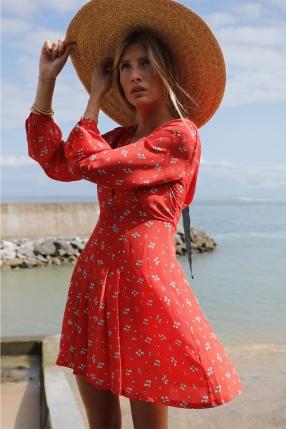 Robe Gemma Red Ditsy Thorn - RIXO - L'Habibliothèque